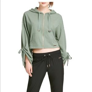 Donna Karan Jackets & Coats - Donna Karen Zip Jacket with Hoodie Size M